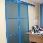 Раздвижная дверь «бронко», синяя