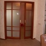 Матовая, радиусная раздвижная дверь